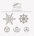equipment for transport driving logo set ship vector image