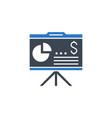financial report related glyph icon vector image vector image