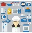 flat design concept icons kitchen utensils vector image