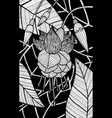 fuschia - flower black and white ink vector image vector image