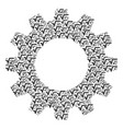 gear mosaic of sqrt icons vector image vector image