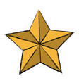 golden star decoration ornament icon vector image vector image