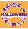 Halloween banner placard invitation or greeting vector image