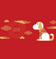 happy new year 2018 chinese new year greetings vector image vector image