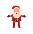 happy santa claus celebrating christmas vector image vector image