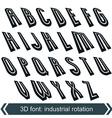 Headline retro style technical 3D font vector image