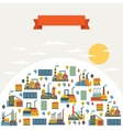 Industrial factory buildings background vector image vector image
