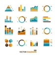 Infographic set elements graph diagrams vector image vector image