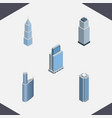 isometric construction set of urban building vector image vector image