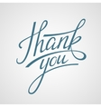 Lettering Thank you vector image vector image