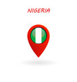 location icon for nigeria flag eps file vector image vector image
