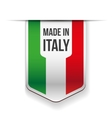 Made in Italy flag ribbon vector image vector image