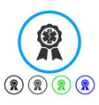 medical seal rounded icon vector image vector image