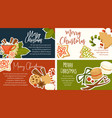 merry christmas winter holidays symbols and text vector image vector image
