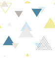 modern abstract triangle seamless pattern vector image