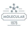 molecular logo simple gray style vector image vector image
