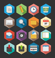 Office flat icons set design vector image vector image