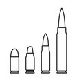 outline bullets icons vector image