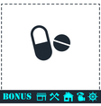 Pills icon flat vector image