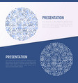 presentation concept in circle vector image vector image