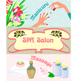 Promotional posters Spa manicure vector image