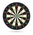 realistic dartboard on white background for vector image vector image