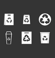 recycle material icon set grey vector image