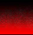 red halftone on black background vector image