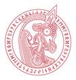 scandinavian design dragon head the bow figure vector image vector image