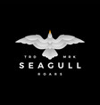 seagull gradient roar flying logo icon vector image
