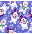 Seamless abstract snowman grunge texture 536 vector image vector image