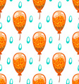 Seamless pattern with cute cartoon balloons 7 vector image vector image