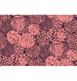 Seamless pencil scribble pattern in pink vector image