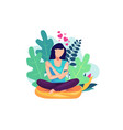self care concept vector image