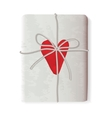 Sending Heart tied with a rope vector image vector image