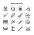 set 16 laboratory concept line icons 64x64 vector image vector image