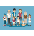 set big happy family character eps10 vector image