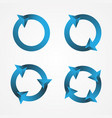 set circle arrow vector image vector image