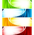 set four colorful banners vector image vector image