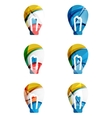 Set of abstract light bulb icons business vector image vector image