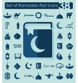 Set of ramadan flat icons vector image