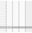 Set of seamless patterns with circles and dots vector image vector image