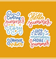 set stickers patches with lettering vector image