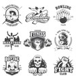 set vintage sports emblems vector image vector image