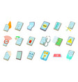 smartphone icon set cartoon style vector image vector image