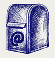 Standard mailbox with mail vector image vector image