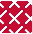 Stylized danish flag pattern vector image