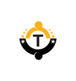 success life coaching initial t vector image vector image