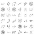 swallow icons set outline style vector image vector image