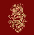 traditional chinese dragon vector image vector image